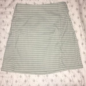 Brandy Melville Green Plaid Skirt